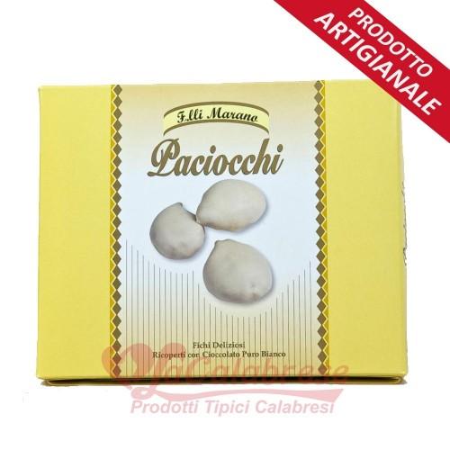 Paciocchi con mandorle ricoperti di ciocc. puro bianco Marano Gr 250