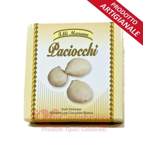Paciocchi con almendras cubiertas de chocolate. blanco puro Marano Gr 250