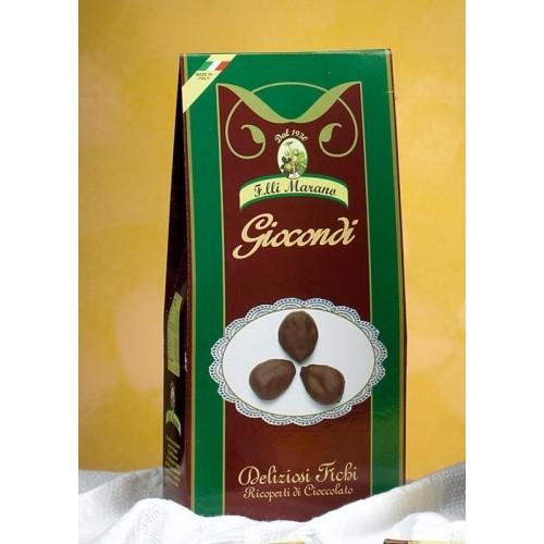 Giocondi ricoperti di cioccolato puro extra fondente Marano Gr 500