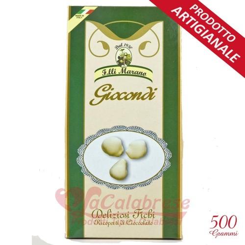 Giocondi ricoperti di cioccolato puro bianco Marano Gr 500