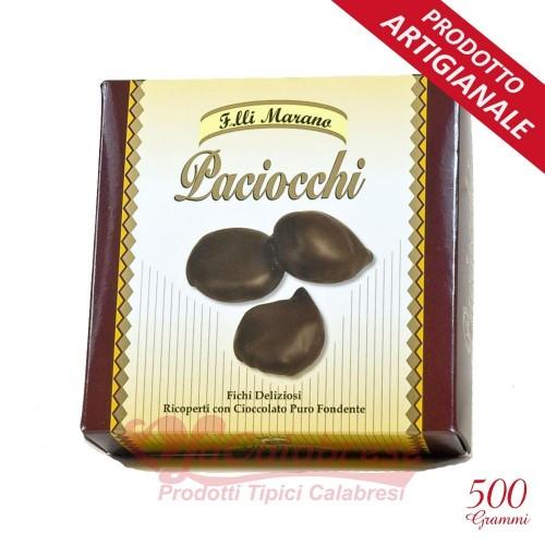 Paciocchi aux amandes recouvertes de chocolat. extra pur dark Marano Gr 250