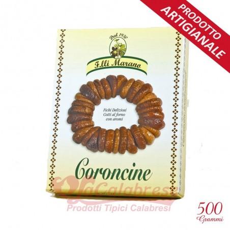 Coroncine di fichi aromatizzate alla cannella Marano Gr 500