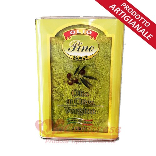 """Huile d'olive extra vierge Calabrese """"Oliovinicola Pino"""" Tin 5 Lt"""