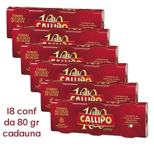 Aceite de oliva conservado de Callipo del atún - paquete 6 80X3