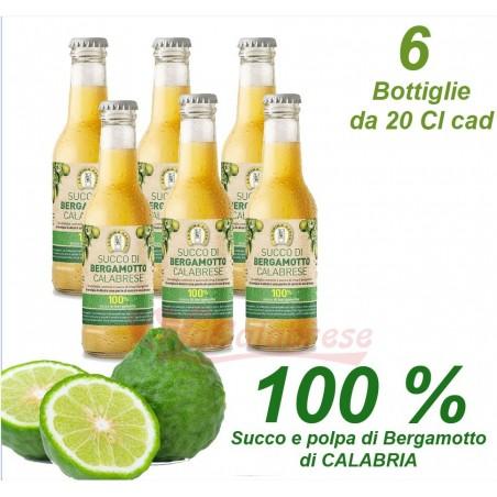 Bibita Succo e polpa di Bergamotto al 100 % - 6 Bottiglie da 20 cl