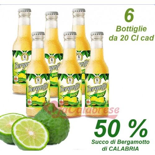 Bibita al bergamotto di Calabria 50% Bergotto Juice - 6 Bott. da 20 cl