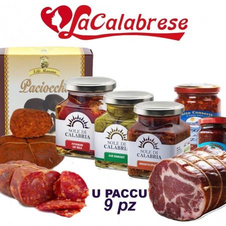 U PACCU 9 pz di prodotti tipici calabresi