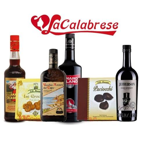Pacco Dolce Amaro 4 amari calabresi + 2 dolci a base di fichi - Specialità Calabresi