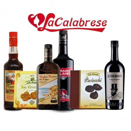 Bitter Sweet Package 4 Calabrian bitters + 2 fig-based desserts - Calabrese Specialties