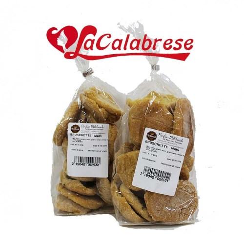 Bruschette Mais produzione artigianale 2 confezioni da Gr 200