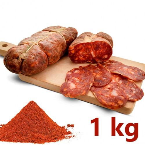 Soppressata Calabrese artisanale assaisonnée 1 kg