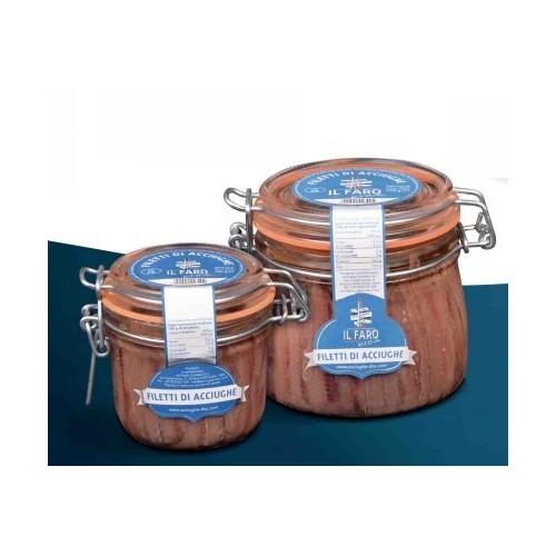Filetti di acciughe in olio Sciacca prodotto siciliano alta qualità
