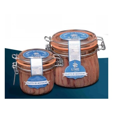 Anchovy fillets in oil Sciacca high quality Sicilian product