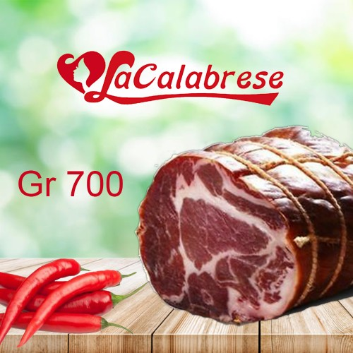 Capocollo cup Calabrese seasoned artisanGr 700