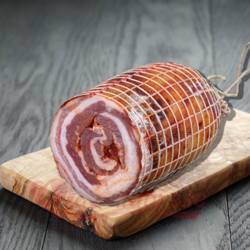 Spicy rolled bacon Salumificio Pulice 500 Gr
