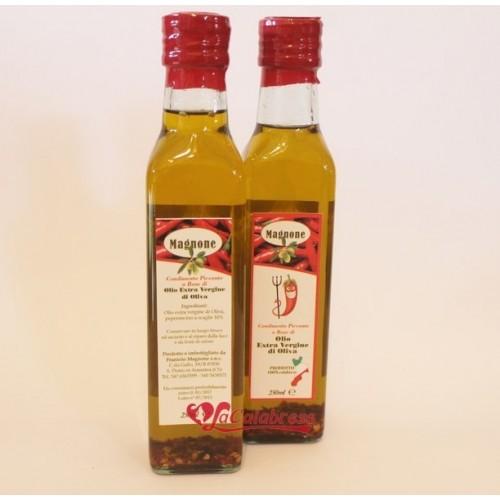 """Olio extravergine di oliva condimento piccante """"Magnone"""" 250 ml"""