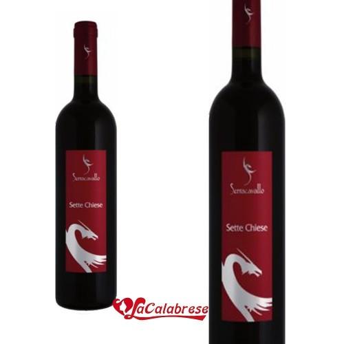 """Vino Rosso """"Serra Cavallo"""" Sette Chiese CL 75"""