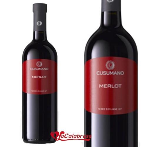 "Vino Rosso ""Cusumano"" Merlot IGT CL 75"