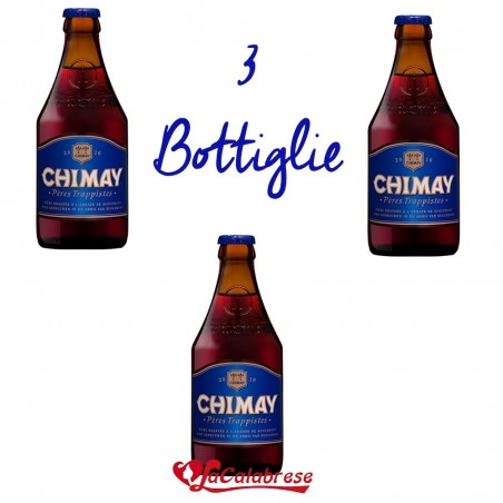 "Birra ""Chimay Blu"" cl.33x 3 bottiglie"