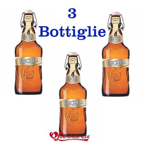 """Birra """"Fischer Gold Pils"""" cl.66x 3 bottiglie"""
