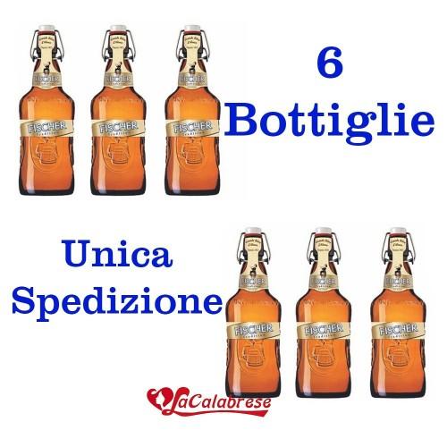 """Birra """"Fischer Gold Pils"""" cl.66x 6 bottiglie"""